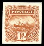 Twelve-cent stamp trial color proof