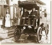 Ambulance that carried McKinley from the Temple of Music