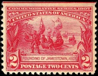 Founding_of_Jamestown_stamp_2c_1907_issue